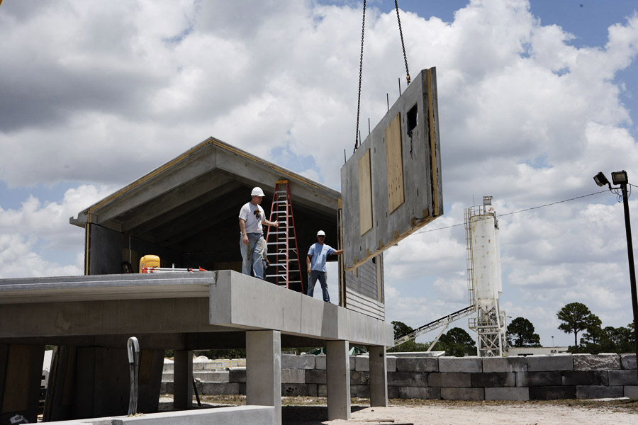 Installing foreverhome precast concrete wall panels for Concrete panel house