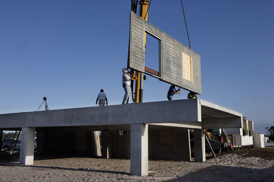Precast Concrete Beams and Floor Planks