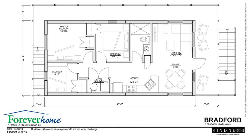 Bradford floor plan foreverhome for 20x40 floor plan