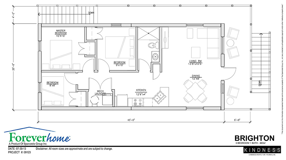 Brighton floor plan foreverhome for Cement home plans
